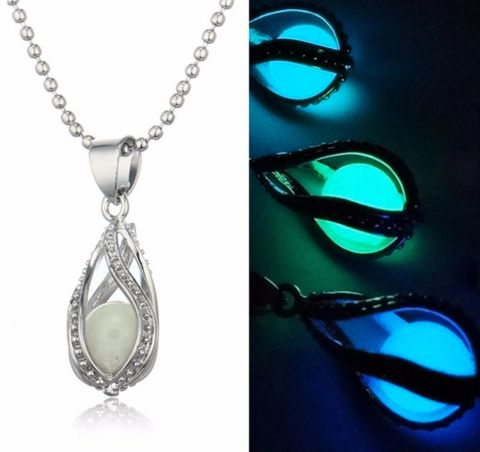 Image result for glow in the dark moon locket necklace