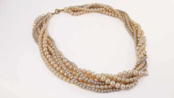 #Vintage Faux #Pearl #Necklace by TreasuresOnBroadway, $26.00