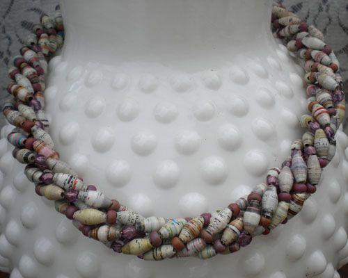 A Paper Bead Torsade Tutorial|Paper Beads & Jewelry