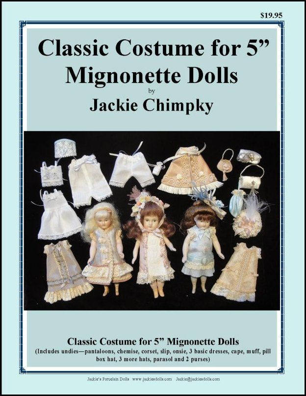 Pattern for Mignonette dolls by Jackie Chimpky