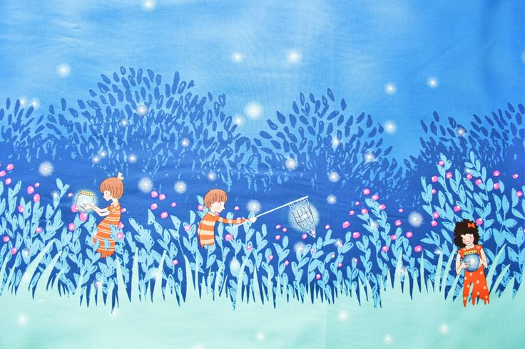 Wee Wander, Sarah Jane, Michael Miller Fabric, Cotton Fabric, Beautiful, Summer Night Lights, Boys and Girls, Half Metre by TwoChubbyRabbits on Etsy