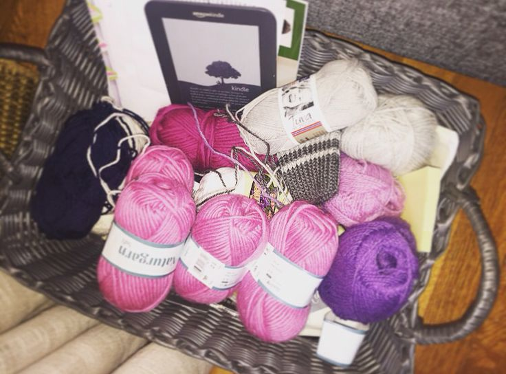 My favorite kind of basket! #knittingmaniac