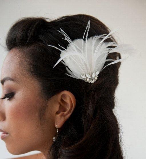 Bridal Fascinator Wedding Fascinator Ivory by PowderBlueBijoux, $69.00