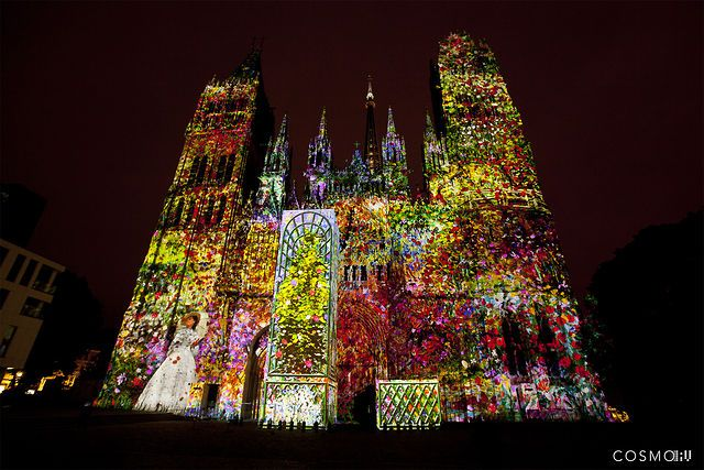 """""""Première Impression"""", Cathédrale de lumière, Rouen 2013 from Cosmo - Vidéo-mapping à l'occasion de la 2ème édition du festival Normandie Impressioniste sur la façade de la Cathédrale Notre-Dame de Rouen; et ayant pour thème l'Impressionisme.  Du 1er juin au 29 septembre 2013."""