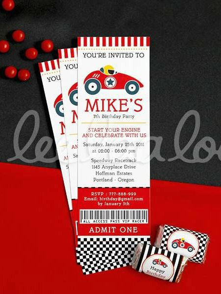 Race Birthday Party Invitations!  See more party planning ideas at CatchMyParty.com!