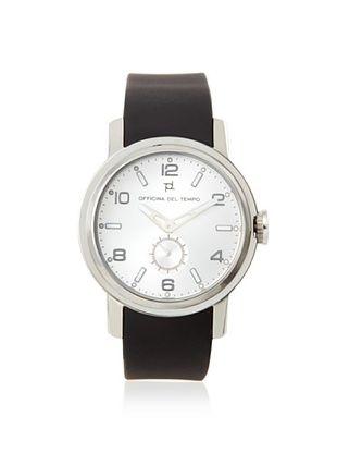 Officina del Tempo Men's OT1032/211N Neat Black Silicone Watch