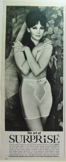 1964 SURPRISE Panty GIRDLE J'Maka for Jamaica Shorts Vintage Lingerie photo Ad