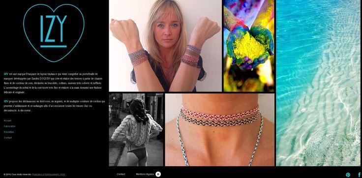 Dernière création de l'agence WOD DESIGN : http://www.izy-bijoux.fr/