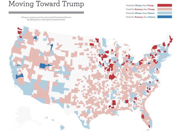 80 Cities That Flipped From Obama To Trump And 8 That Flipped From Romney To Clinton By Kcsluis