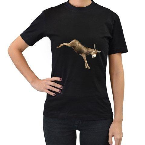Donkey+1+Womens'+T-shirt+(Black)+Women's+T-Shirt+(Black)