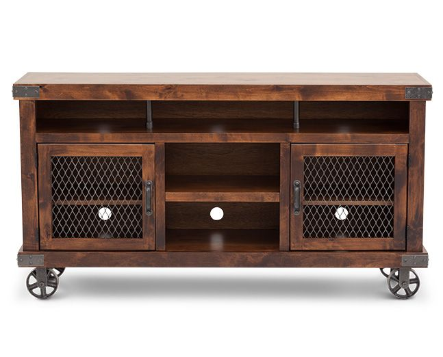 TV Stands-St. Louis TV Stand-Showcase mechanical rustic