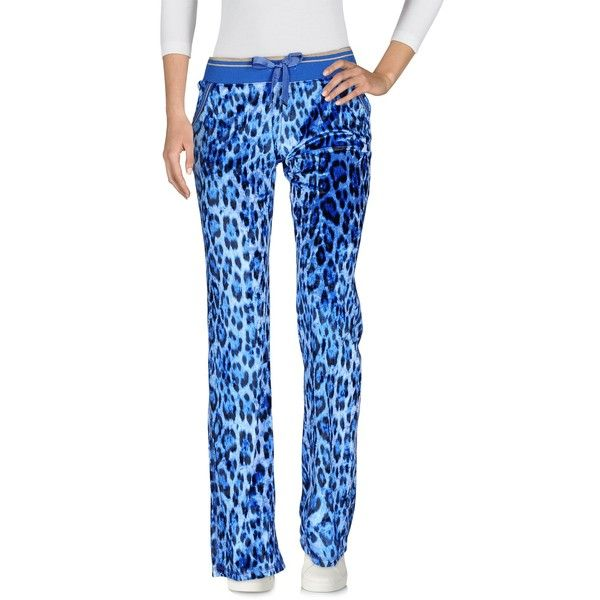 Roberto Cavalli Gym Casual Trouser ($305) ❤ liked on Polyvore featuring pants, azure