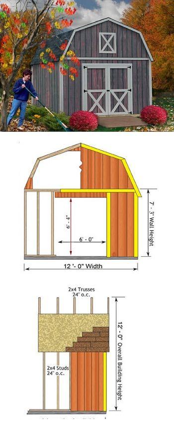 Denver 12x16 Ft Best Barn Wood Shed Kit