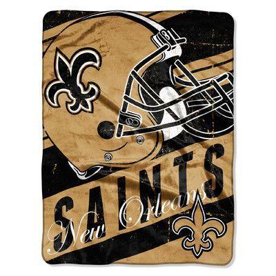 Northwest Co. NFL Saints Deep Slant Micro Raschel Throw