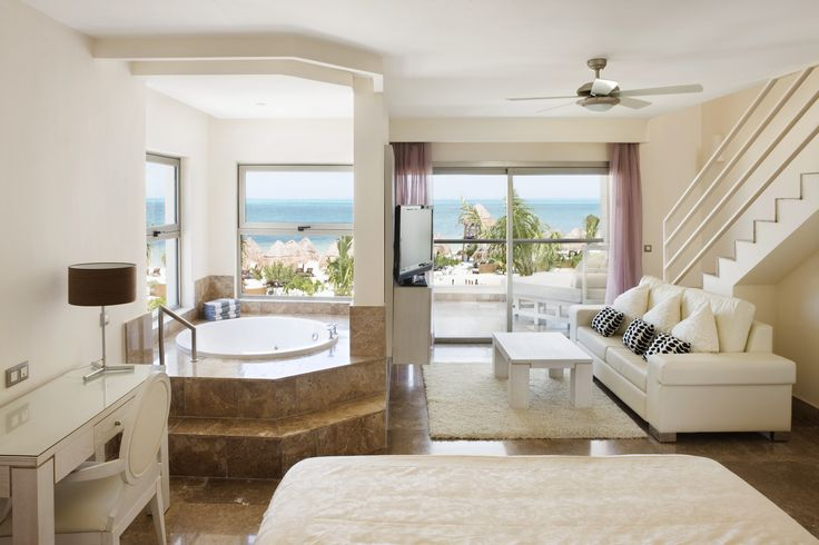 The Beloved Hotel Pool Terrace:Eight suite categories give you options of features such as pool access, ocean views, rooftop terraces and beachfront location. #CheapCaribbean