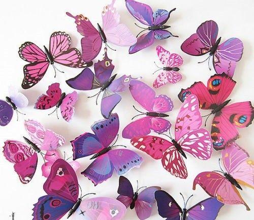 Väggdekor Fjärilar i lila via AmandasMagasin. Click on the image to see more!