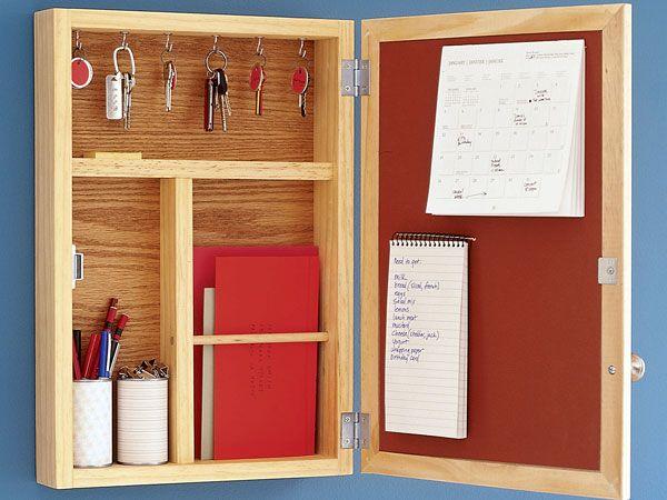 Conquer Clutter By Making A Message Center Designed To Hold Lists Bills Keys Kitchen Bulletin Boardscork