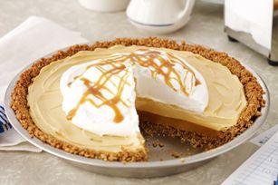 Une tarte dont la croûte est faite de chapelure de biscuits graham, arrosée d'un filet de caramel… N'avez-vous pas l'eau à la bouche? Vous vous devez de l'essayer!