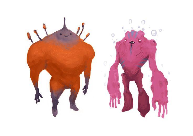 ArtStation - humanoid creatures, Federico Calchera