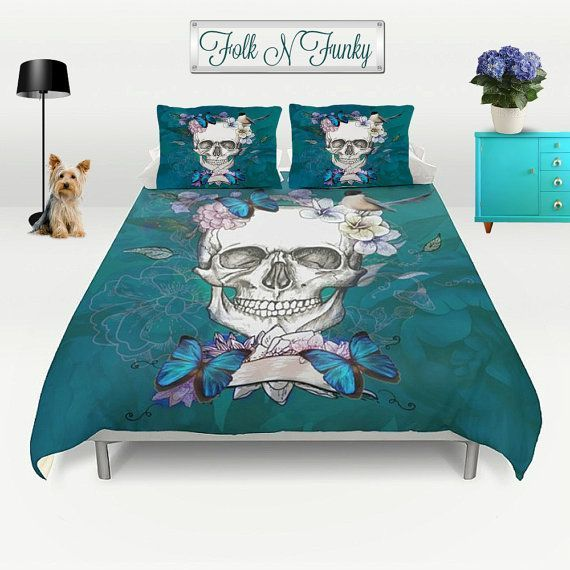 Duvet Comforter Cover Ready To Cover Up In Style Create Your Own Dream Bedroom Or Someone Elses When Skull Duvet Cover Duvet Cover Sets Unique Duvet Covers