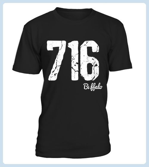 Buffalo NY 716 Area Code Vintage TShirt (*Partner Link)