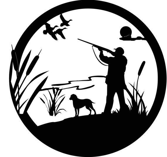 Картинки с охотником и собакой для рисунка шоколадом, днем