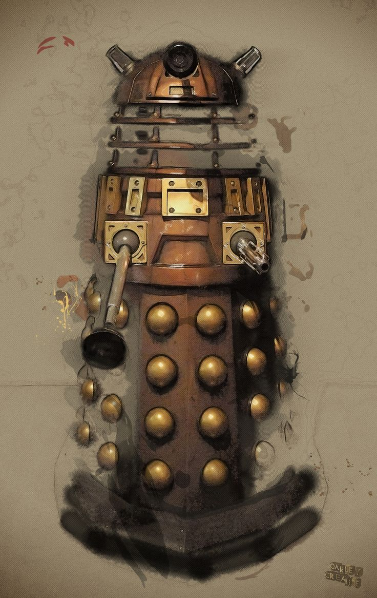 Dalek illustration by Oakley Creative.  The Daleks were created by Terry Nation and are copyright © the British Broadcasting Corporation/Terry Nation.