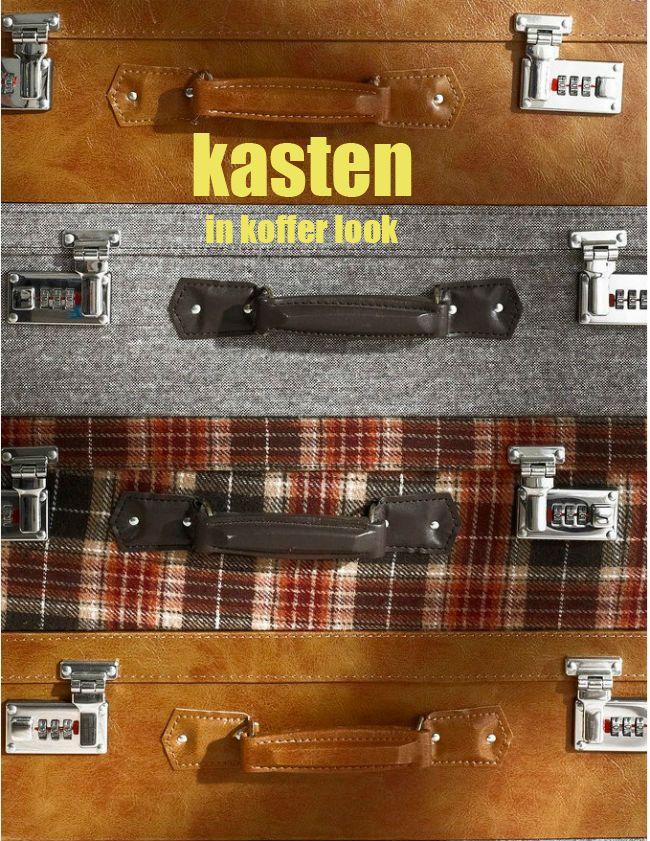 Kasten in koffer look of zijn het kofferkastjes. Een koffer is ideaal om spullen in op te bergen, zodra de vakantie voorbij is krijgt de koffer een andere bestemming, als opslag van diberse spulletjes, MEER http://nl.popsfl.com/?p=12285
