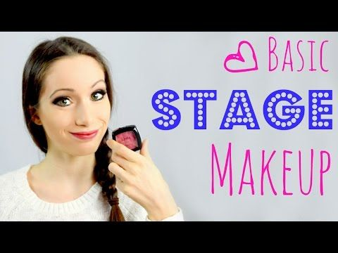 Basic Stage Makeup Tutorial! - YouTube