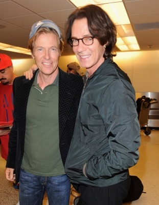 Jack Wagner and Rick Springfield arrive at Miami International Airport, Miami, Fla., on November 3, 2011