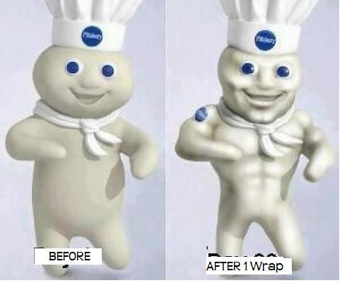 boy pillsbury dough doughboy funny challenge workout years works laugh poppin insanity wraps six challenges really transformation resolution ab come