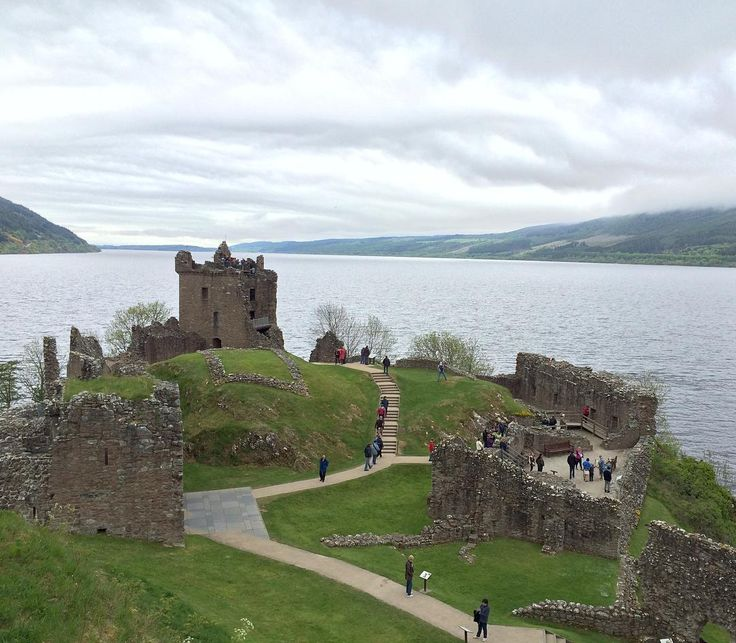 Urquhart Castle in Inverness, Scotland, UK