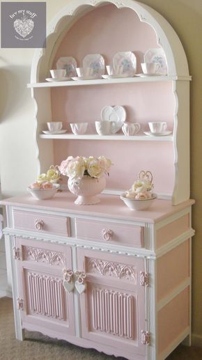 Romantic pink round hutch ..called Shelly , made in my own range of pink paints now available at luvmystuff