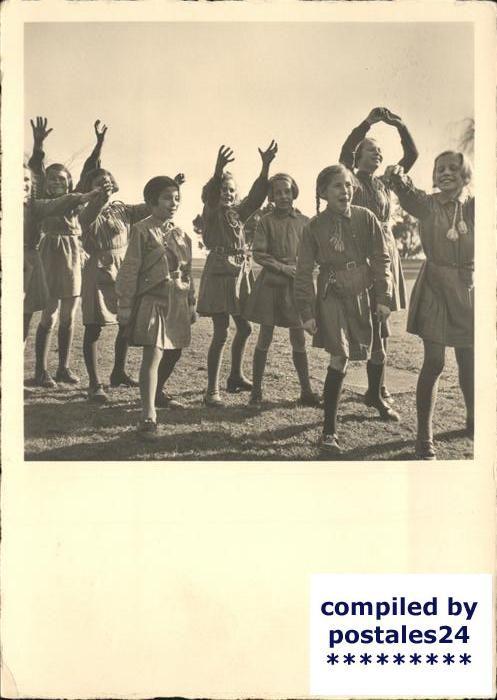 1944 Swiss postcard showing Girl Scout Brownies (Bienli) meaning little bees | eBay
