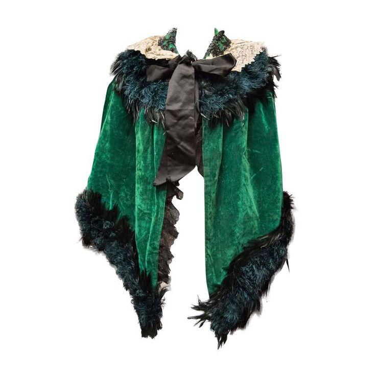 Green Velvet Victorian Cape