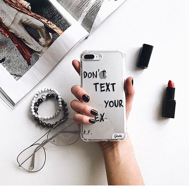 Mother's Day Gifts – Don't text your ex iPhone armor soft case – a unique product by Solomiia-Ivanytsia on DaWanda