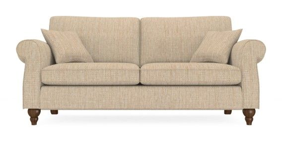 Buy Ashford Large Sofa Seats Textured Weave Mid Mink Low - Ashford sofa