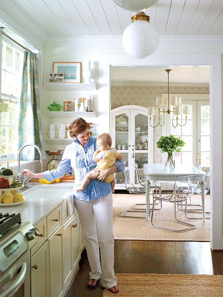 Southern Livingu0027s 10 Best Before Afters. Love This Hardworking Small Kitchen.  Via Southern Living