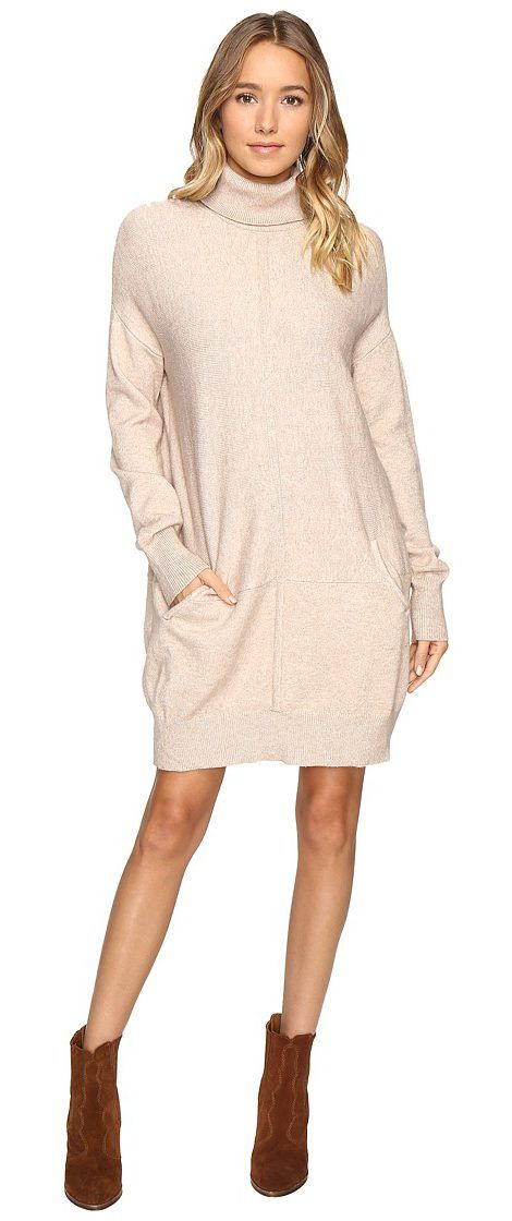 Culture Phit Atia Turtleneck Sweater Dress (Oatmeal) Women's Dress - Culture Phit, Atia Turtleneck Sweater Dress, 68SD547SHC59, Apparel Top Dress, Dress, Top, Apparel, Clothes Clothing, Gift - Outfit Ideas And Street Style 2017