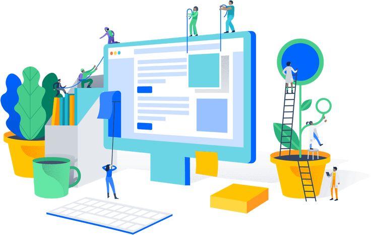 Planning Designing Developing Optimizing A Website Made Easy Business Illustration Isometric Design Flat Design Illustration