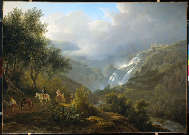 Abraham Teerlink, The Cascatelle Near Tivoli By Approaching Thunderstorm. 1824