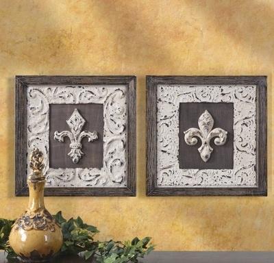Fleur De Lis Wall Decor   Home Decor   Pinterest   Tuscan style, Wall decor and Walls