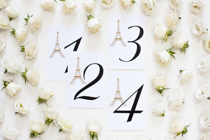 Карточки нумерации столов Париж
