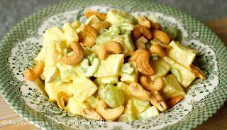 Beautiful Boardwalk: Kip-kerrie-fruit-noten salade | recept