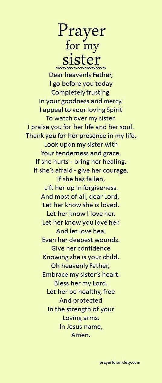 Prayer for Sister