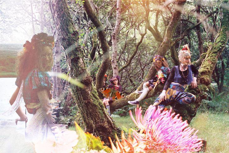 'Three in a Tree' Photography: Blair Alexander Massie (B.A Marauder) blairalexander.tu... | Concept/Design/Styling/Makeup: Alice Halliday etsy.com/shop/alicehalliday | Hair: Faye Mazani | Models: Tara Farley, Alice Halliday & Clara Kearney | Location: Liss Ard Estate, Skibbereen, Co. Cork, Ireland