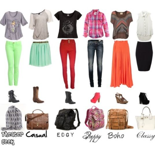 Six simple outfits easy for school outfits. – Wear It
