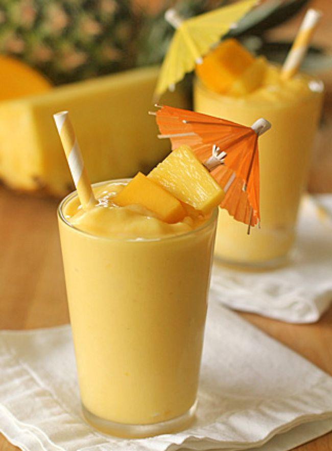 Mango Pineapple Milkshake   Fall In Love With Food Again #VeganFoodLovers #PlantBasedFood #VeganRecipes