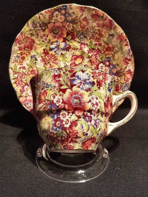 Royal Winton Grimwades SUNSHINE Chintz Teacup (1930)