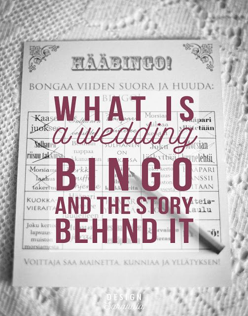 Check out my tips for a perfect wedding bingo (and the story behind it)